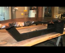 The Work Flow Process of Making Live Edge Creations/ Slab Tables.