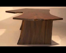 Black Walnut Live Edge Slab Creations/Tables